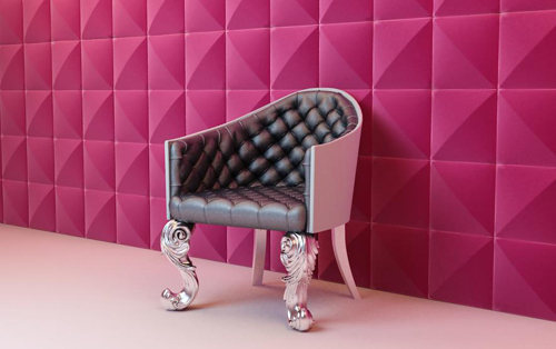 Animal foot sofa, sofa chair, chair, European furniture, mod
