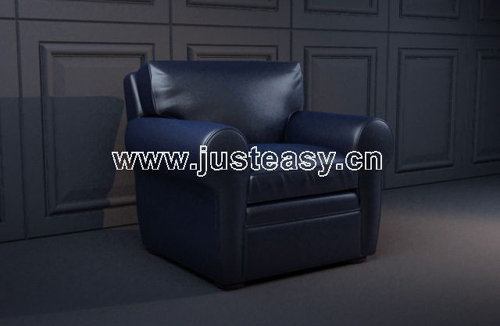 Dark blue sofa, single sofa, sofa chairs, fabric sofas, chai