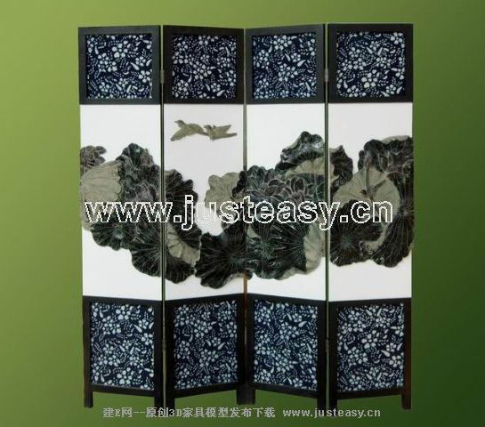 Chinese traditional painting screens, Chinese furniture, woo