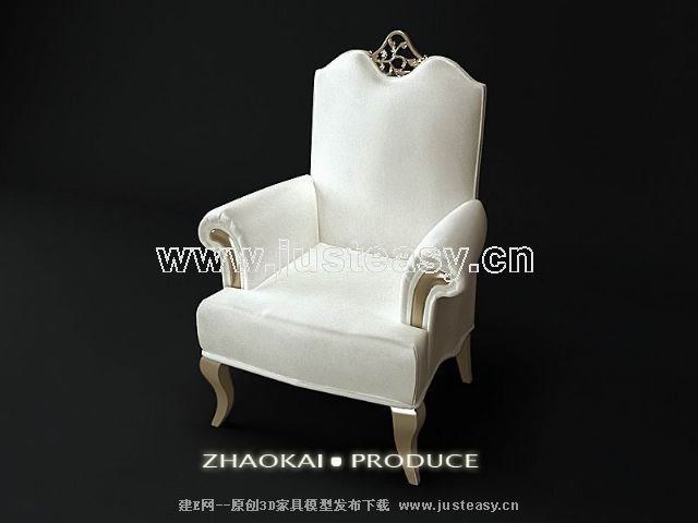 Big mansion neo-classical European chair, sofa, white cloth