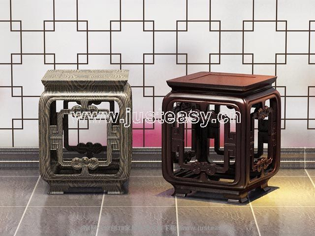 Link toA few chinese style furniture, wooden stool, pure wood furni