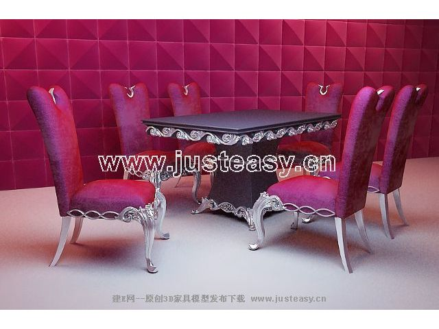 Ou shi chair, European furniture, chairs, tables, kitchen fu