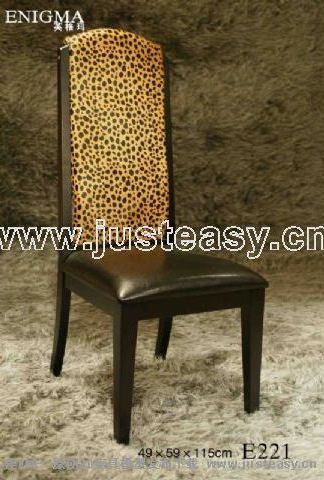 Leopard grain, leather chair, chair, sofa chair, chair of a