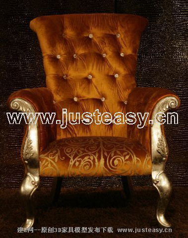 Western-style classical luxurious sofa, golden color sofa,