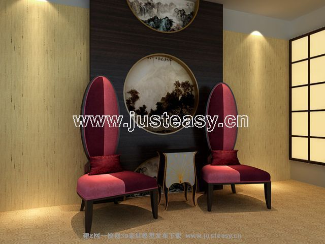 Tip back a soft chair, fabric sofa, western style furniture,