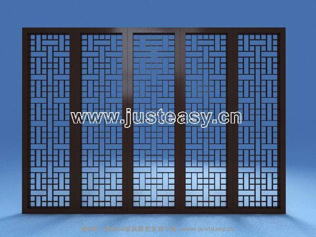 Wood lattice screen, Chinese screens, retro screens, wooden
