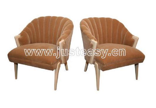 Orange sofa chair, chair, chair, the computer chair, a soft