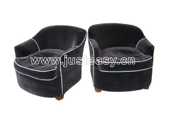 Sofa, single person sofa, black leather sofa, furniture, sof
