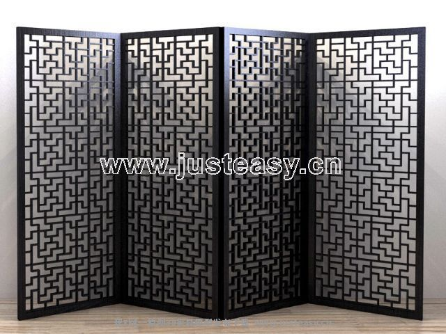 Four fold Chinese style is classic screen, screen, restore a