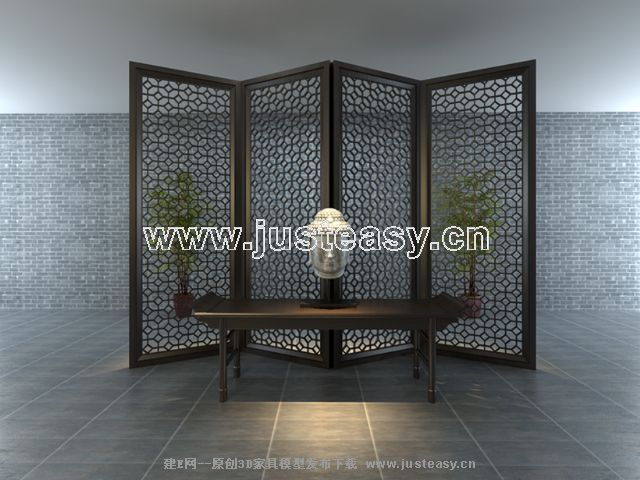 Chinese style elegant display screen, screen, restore ancien