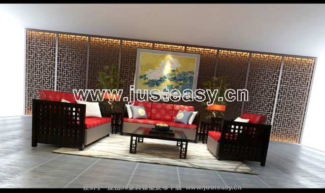 Chinese contemporary sofa, sofa combination, many people sof