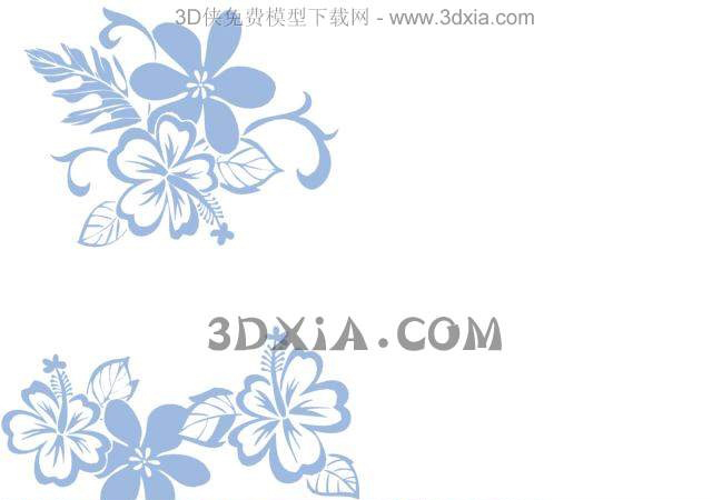 Blue petals wallpaper, wall stickers, wallpaper, decorative,