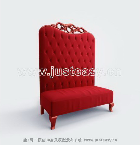 Big red chair sofa, single sofa, fabric sofa, soft sofa, sof