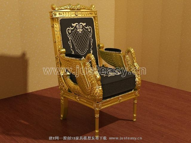 Golden throne, chair, single sofa, soft sofa, sofa chair, Eu