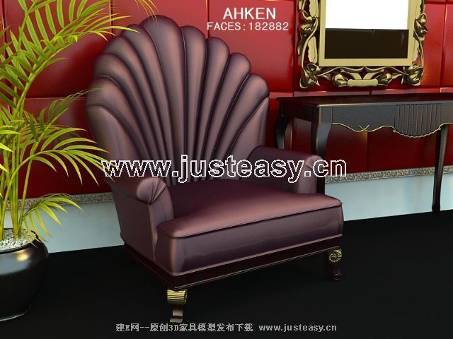 Purple single sofa, sofa, single sofa, soft sofa, sofa chair