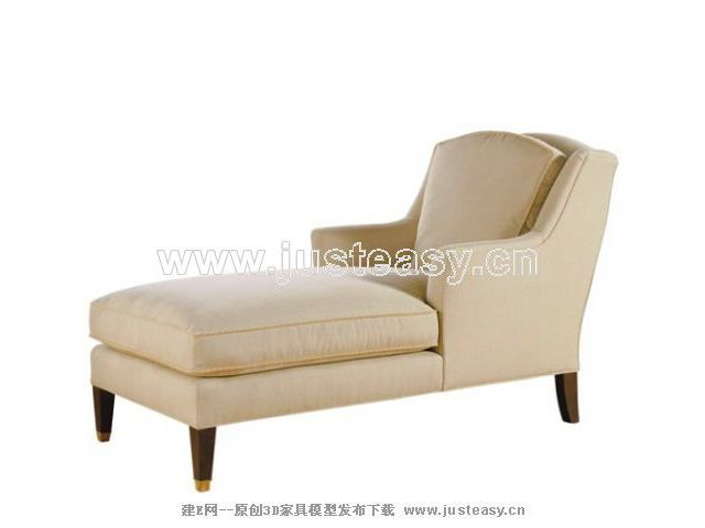White deck chair, single person sofa, soft sofa, cloth art s