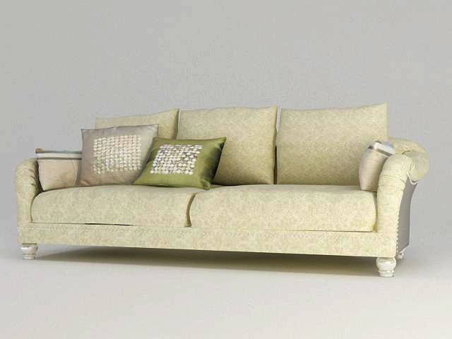 Rural style sofa, many people sofa, cloth art sofa, soft sof