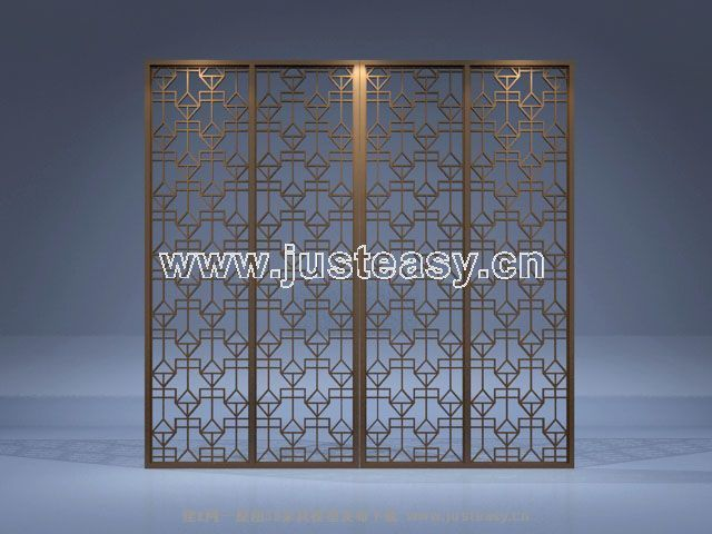 Chinese style folding screen four, screen, decoration, displ