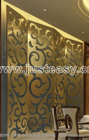 Commercial background wall adornment, screen, decoration, di