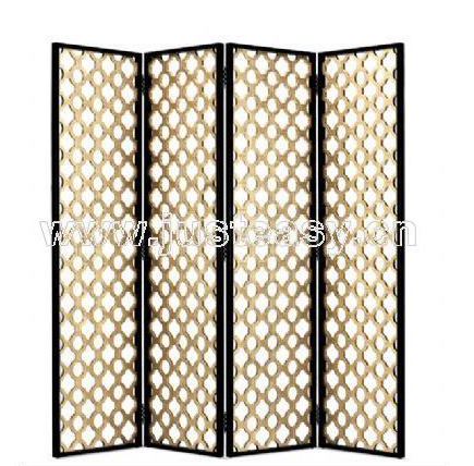 Aureate arc four fold screen, screen, Chinese style furnitur