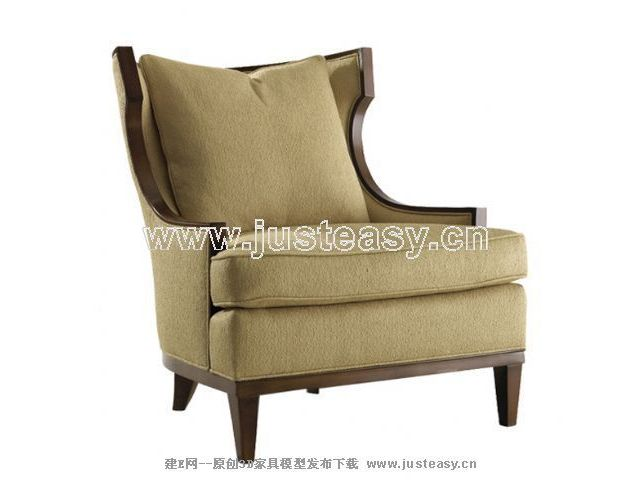 European retro sofa, neo-classical sofa, single sofa, fabric