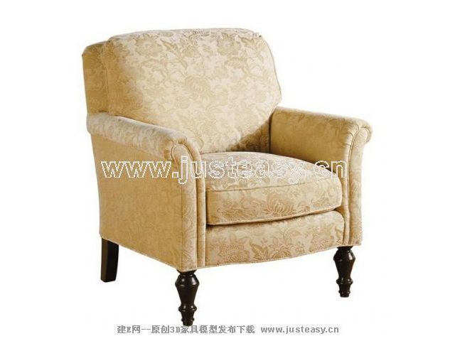 European gold single sofa chair, Western style, sofa chair,