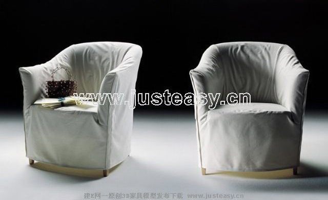 Simple single white sofa, single sofa, sofa chairs, simple f