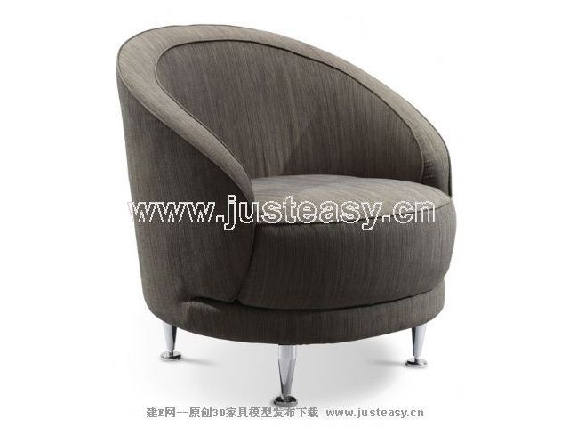 Grey fashion single sofa, single sofa, sofa chairs, simple f