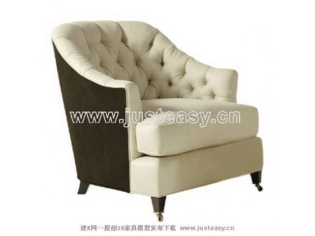 European thicker fabric single sofa, single sofa, sofa chair