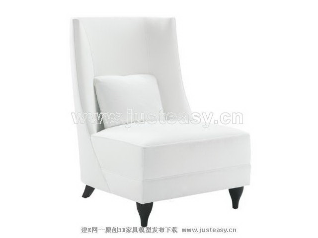 Single white cushion sofa, single sofa, sofa chairs, simple