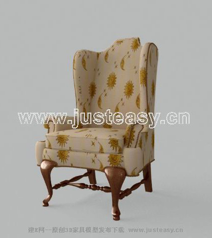 Fine European-style sofa, single sofa, sofa, fabric sofa, Eu