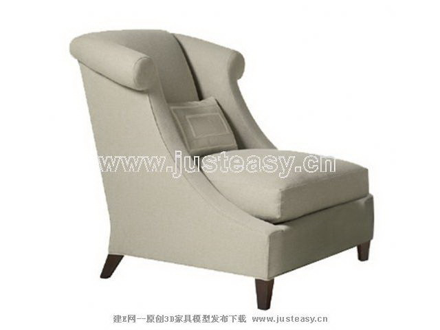 Gray recliner sofa, single sofa, sofa, fabric sofa, European