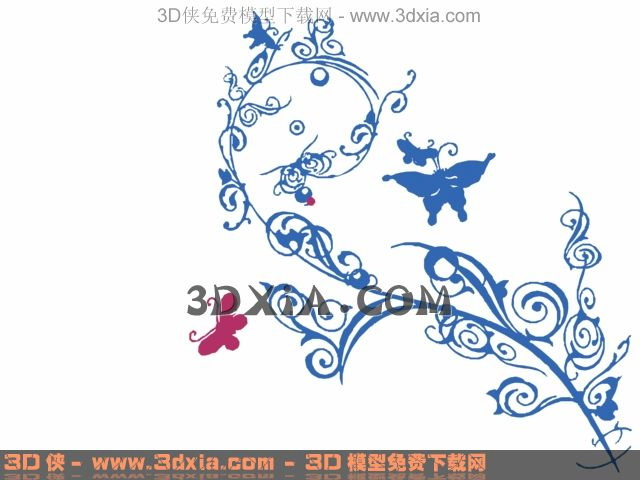 Butterfly with flower wallpaper, wallpaper, wall stickers, d