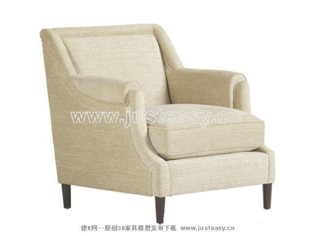 European rice white single person sofa chair, single chair,