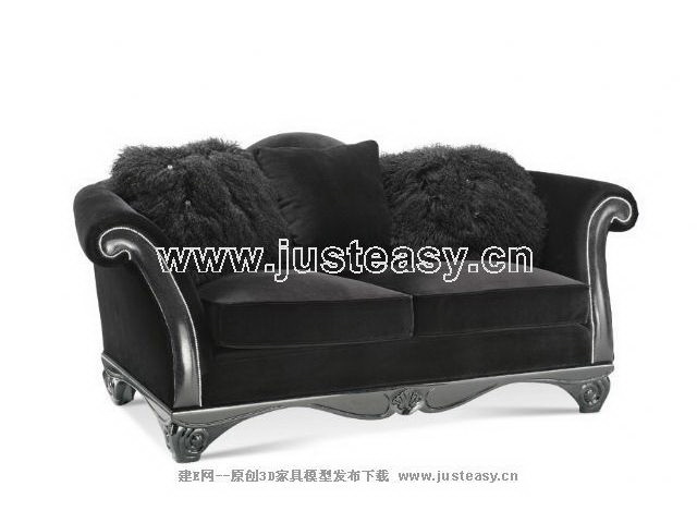 European black fur double sofa, continental furniture, Europ