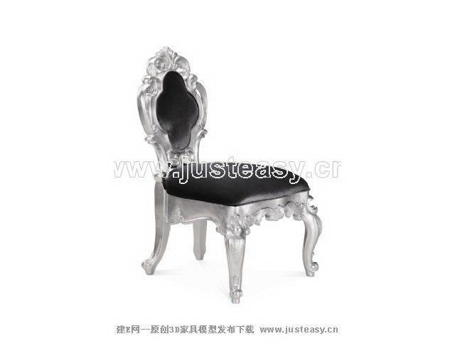 European luxury silver odd chair, chair, chair, leather chai