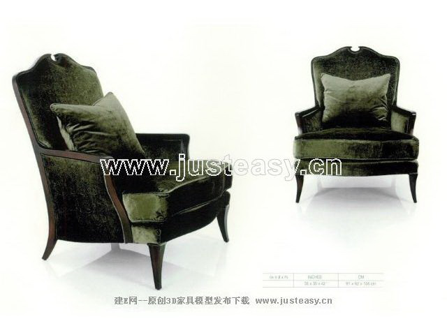 Green contracted single person sofa, sofa, single person sof