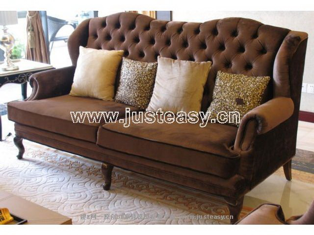 Europe type sofa, soft cloth art many coffee sofa, many peop