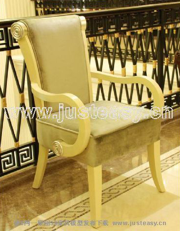 European armchair, yellow single chair, chair, ou shi chair,