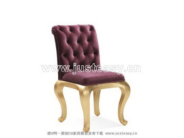 European soft mat chair, purple single chair, chair, ou shi