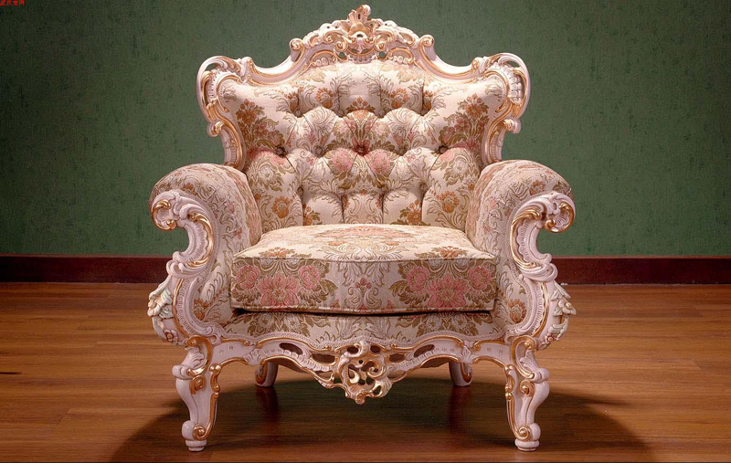 European luxury royal sofa chair, luxury single chair, chair