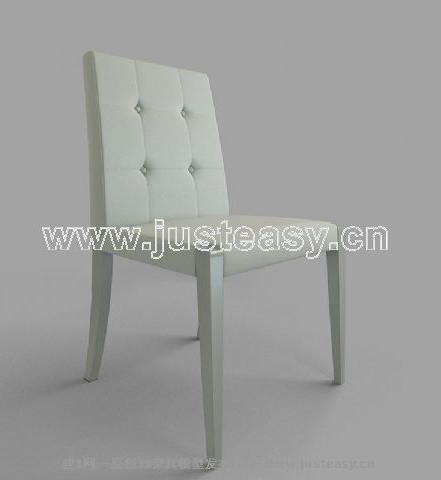 Personalized white ottoman, single chair, personalized furni
