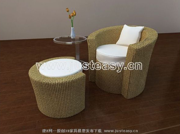 Try weaving sofa chair, sofa chair, stool weaving, the prepa