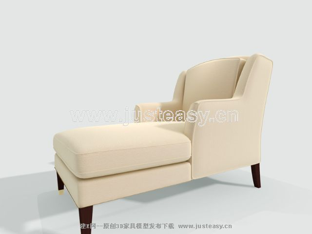 Cream-colored sofa of deck chair, continental furniture, dec
