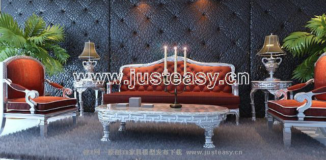 European sitting room sofa combination, European furniture,
