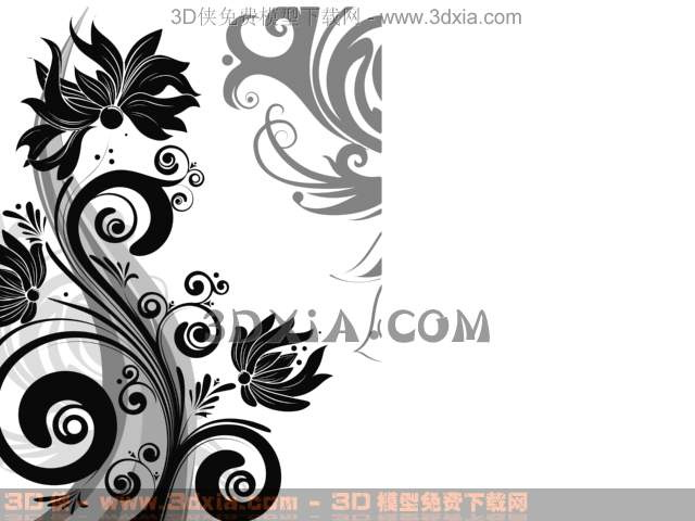 Link toThe dark grey abstraction flowers wallpaper, wallpaper, wall