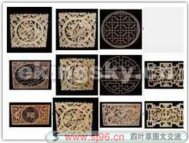Chinese style screen woodcarving, woodcarving, screen, Chine
