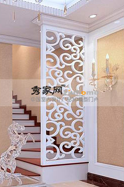 Show house white screen, fashionable screen, contemporary ho