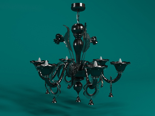 Black tie yi droplight, droplight, lamps and lanterns, wroug