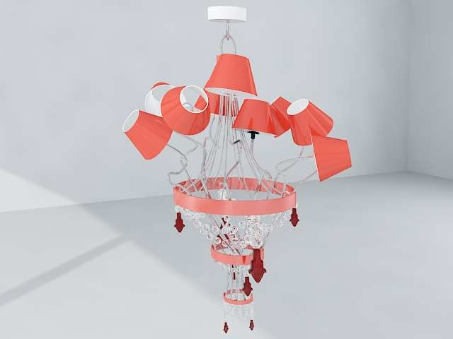 Pink lamp cap crystal droplight, droplight, lamps and lanter